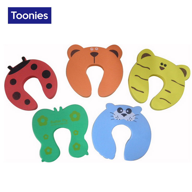 Random Color Cute Cartoon Door Stopper Baby Safety Products Thick Sponge Clip Card Foam Slam Finger