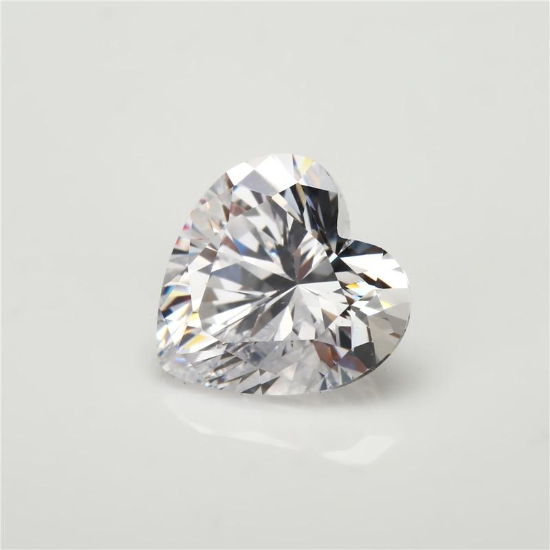 Μέγεθος 3x3-12x12mm σχήμα καρδιάς 5A λευκό - Κοσμήματα μόδας - Φωτογραφία 2