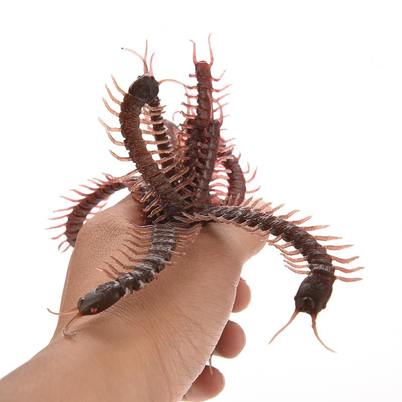 Halloween Haunted House Funny Spoof Simulation Infrared RC Remote Control Centipede Scolopendra Creepy-crawly Toy Gift