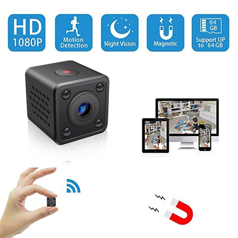 IP Wifi Mini cámara inalámbrica de infrarrojos cámara de cuerpo noche detección de movimiento visión Mini DV de voz grabadora de vídeo de 1080 p HD cámara