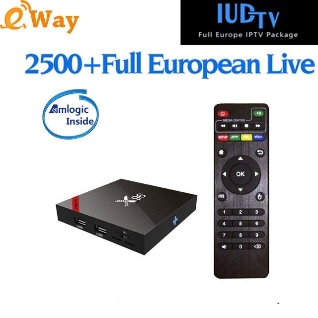 US $81 58 |Android 7 1 France Arabic IP TV Box Quad Core IUDTV Europe Set  Top Box X96 W 1 Year IPTV Europe Germany UK Sweden Albania IPTV-in Set-top