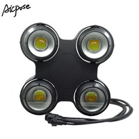 4x100W IP65 Waterproof 4 Eyes COB Audience Light Stage Light  400w COB DMX dj Light Outdoor Strobe Stage Light