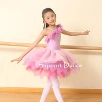 Child One Shoulder Ballet Tutu Costume Dress Toddler Adult Professional Performance Costumes C257