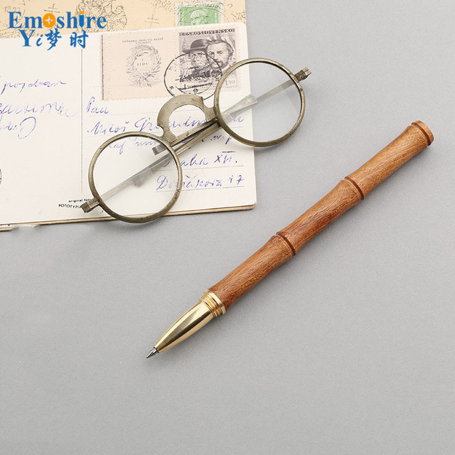 Mahogany Signature Pen Creative Commemorative Gifts Office Ballpoint  Pen Business Gifts Roller Ball Pen Custom Logo P361