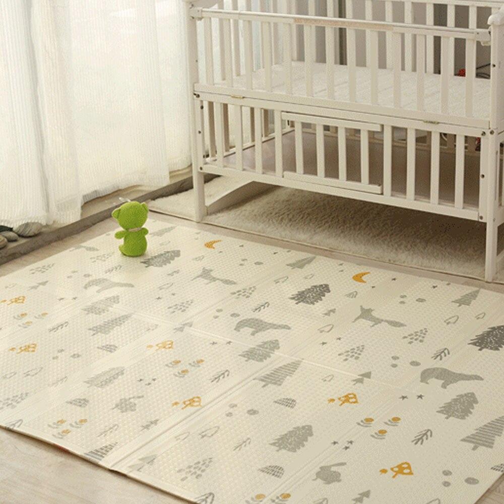 200 CM * 180 CM * 1 CM bébé Portable tapis de jeu pliant XPE ramper Pad maison en plein air pliant imperméable tapis de jeu de Puzzle pour enfants enfant