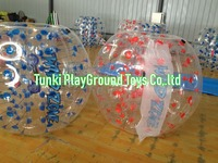 Hot sale half color tpu inflatable human sized soccer bubble ball,loopy ball