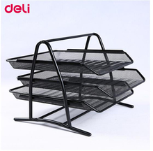 Deli File box three layers file box data box office desk office supplies metal document trays deli 0012 10pcs staple 1000pcs box