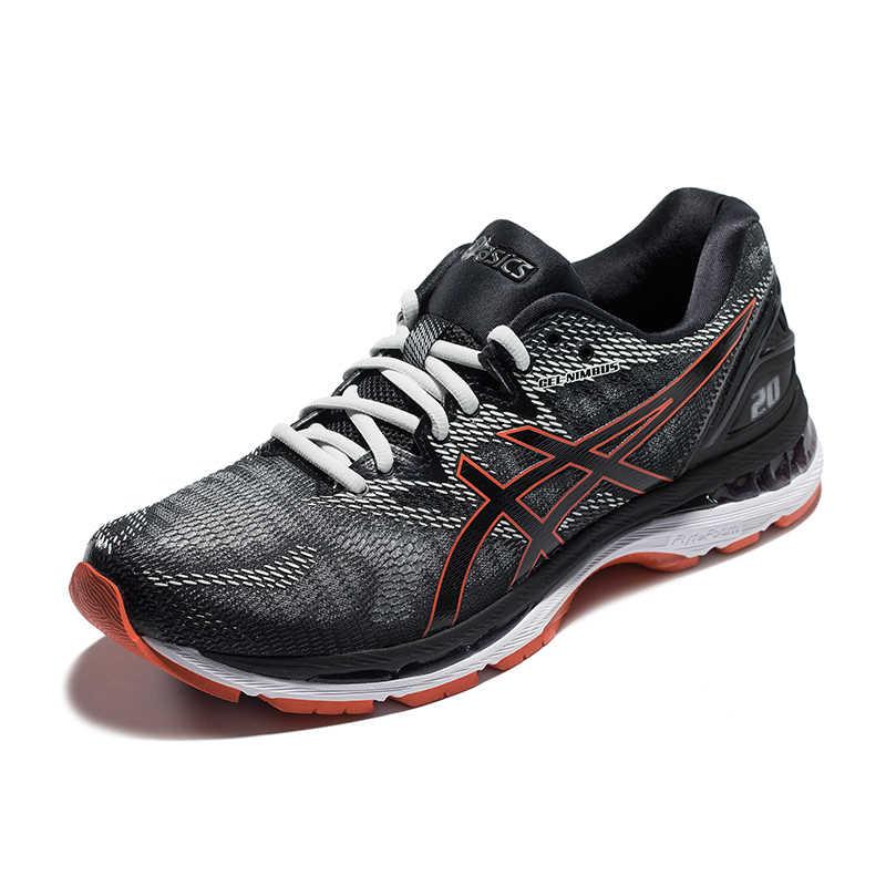 e51538e4 ... Оригинальные ASICS Для мужчин GEL-NIMBUS 20 сетки дышащая легкая Вес  амортизацию беговые кроссовки спортивная ...