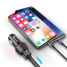 TIEGEM Quick Charge 3.0 Dual USB Car Charger 30W Universal Travel Car-Charger Mobile Phone Charger Adapter for iPhone X Samsung