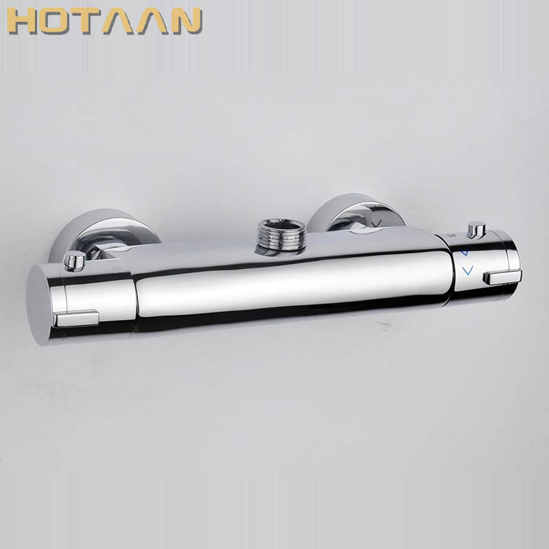 Free Shipping Wall Mounted Two Handle Thermostatic Shower Faucet Thermostatic Mixer , Shower Taps Chrome Finish,YT-5350-A free shipping wall mounted two handle thermostatic shower faucet thermostatic mixer shower taps chrome finish yt 5311 a