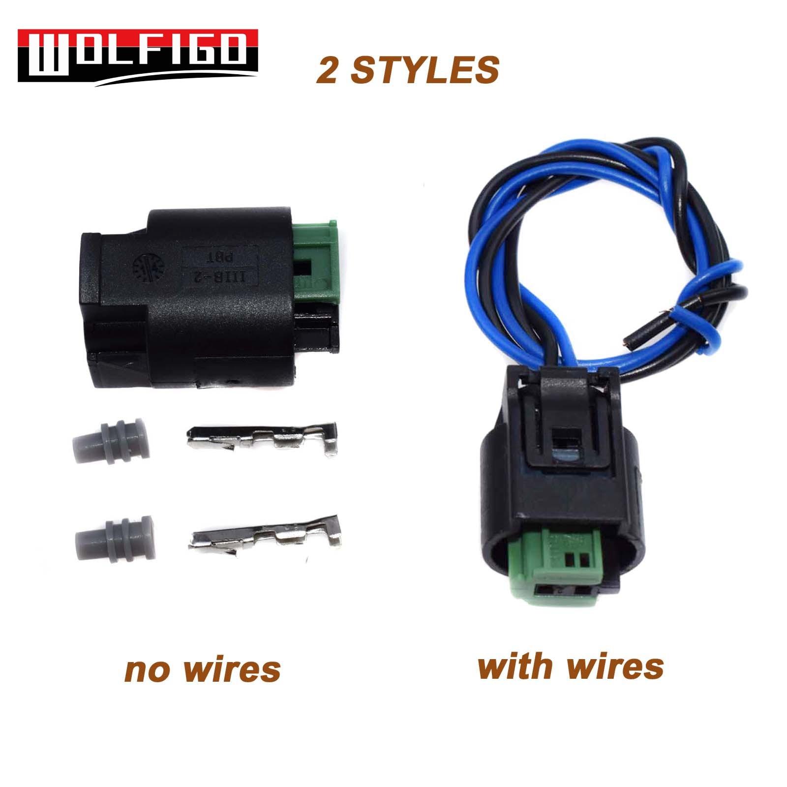 WOLFIGO 1 Set / 10 SetsTemperature Sensor 2 Pin Connector Socket Plug W/ or W/O Wires 1 967644 1 968405 1 For BMW 3 5 7 Series|Temperature Sensor| |  - title=
