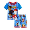 Summer Brand Fashion Boy Clothing Set Baby pajamas suit Children's popular Cartoon Dog Kids sleepwear cotton t-shirts+shorts