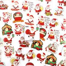 """48 шт./кор. веселого Рождества декоративные Стикеры Санта Клаус в виде конверта Стикеры s для альбом для скрапбукинга """"сделай сам"""" оформление альбома, дневника"""