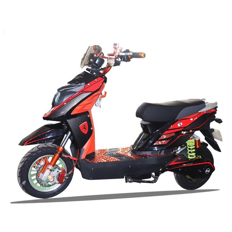 Moto électrique de scooter avec le cadre d'alliage d'aluminium d'acide de plomb de 60 V 20AH 30-50 km/h moteur électrique sans brosse puissant de bicyclette Ebi