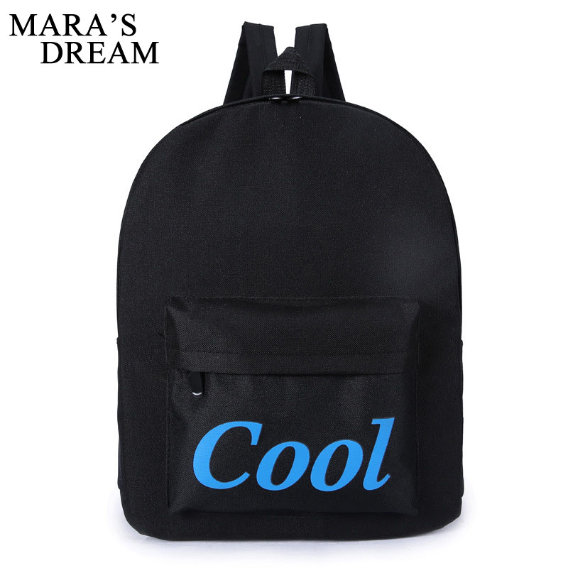 Mara's Dream 2018 Canvas Women Backpack Causal Travel Bags Boys School Bags For Teenage Girls Letter Printing Backpacks Mochila vintage cute owl backpack women cartoon school bags for teenage girls canvas women backpack brands design travel bag mochila sac