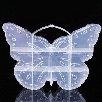 25 uds caja de almacenamiento de plástico con compartimento en forma de mariposa, caja, Cuenta de joyería, artículos diversos, organizador, ASA, contenedor ZA4699
