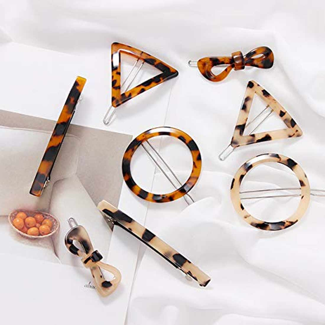 Women Lady Fashion Hair Accessory Oval Acetate Acrylic Barrettes Resin Tortoise Hair Clips geometric hair clip in Women 39 s Hair Accessories from Apparel Accessories
