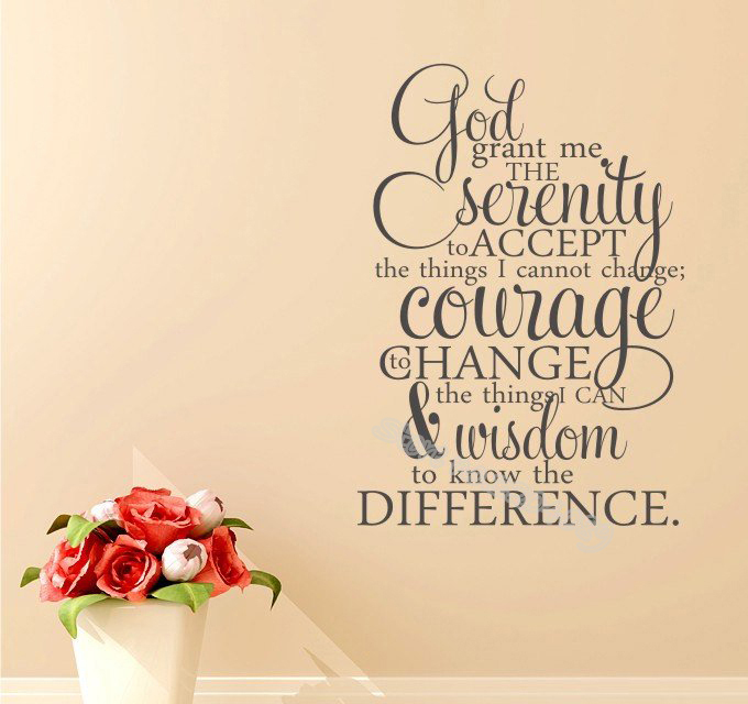 US $7.87 26% OFF|god grant me Serenity Prayer Quote Wall Decal Home Decor  Living room sofa background wall sticker Vinyl Word wallpaper EB048-in Wall  ...