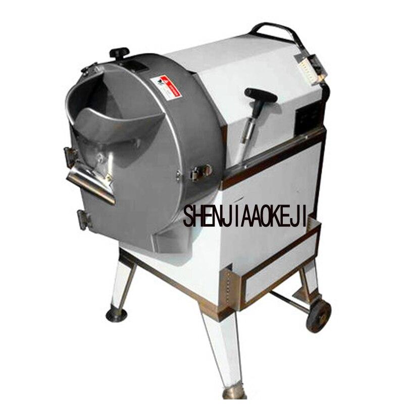 Roestvrijstalen aardappelschudmachine wortel stukjes zijde gesneden 220 in 1 stuks. Multifunctionele lamp Dicer Machine