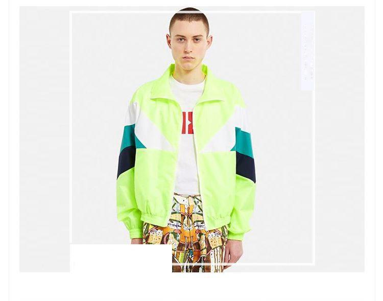 Men Jacket Gosha Rubchinskiy Classic Navy Tricolor Sport Long sleeve Windbreaker Jackets Hiphop Skateboards Couples Outwear S-XL (15)