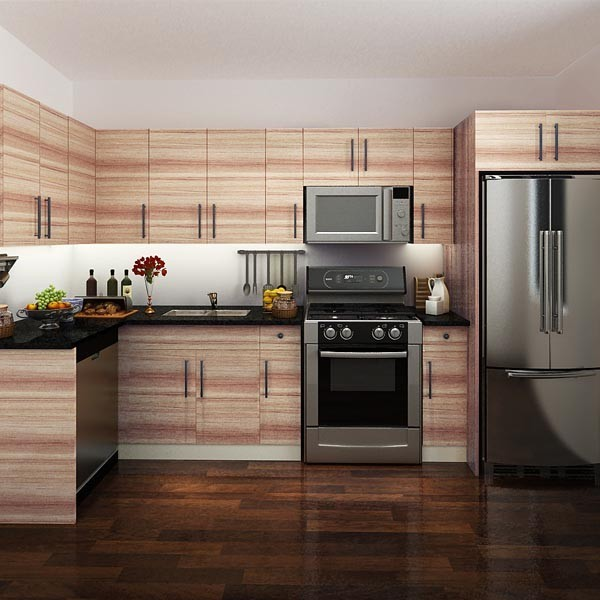 Canadá proyecto gabinetes de cocina de melamina Muebles de cocina ...