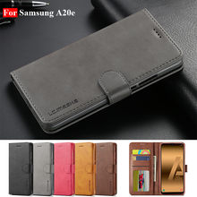 Untuk Samsung A20e Case Leather Vintage Kasus Samsung Galaxy A20e Case Flip 360 Dompet Kasus untuk Hoesje Samsung a20e Cover(China)