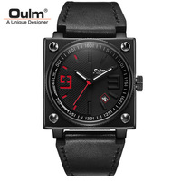 OULM 2018 New Creative Quartz Watch Men Analog Clock Red Color Fashion Casual Waterproof Top Brand Luxury Male Wrist Watches