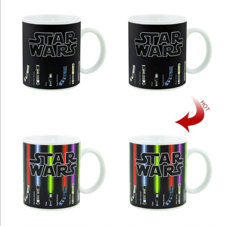 Star Wars Lightsaber Heat Reveal Mug Creative Gifts Magic Mugs multiple styles Hot sale Magic Color Change Ceramic Coffee Cup