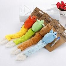 HELLOMOON Pet Cat Toy Feather Cute Animal Design Toys для кошек Jouet Chat Macaron Цветная бархатная мышь с длинными хвостными игрушками для кошек