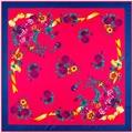 100 см * 100 см Женщин 2016 Новая Мода Twill Шелковый Весна Маленький Цветок Бантом Печатной Площади Шарф Горячие Продажи Femal Wrap
