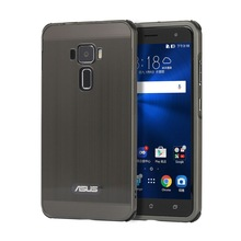 For ASUS ZenFone 3 ZE552KL Case Electric Plating Metal Frame and Wire Drawing Effect Acrylic Cases for ASUS ZenFone3 ZE552KL цены онлайн