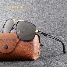Eyecraftes алюминий магния поляризованные солнцезащитные очки для мужчин s весна шарнир бренд вождения Пилот солнцезащитные очки для мужчин Oculos masculino