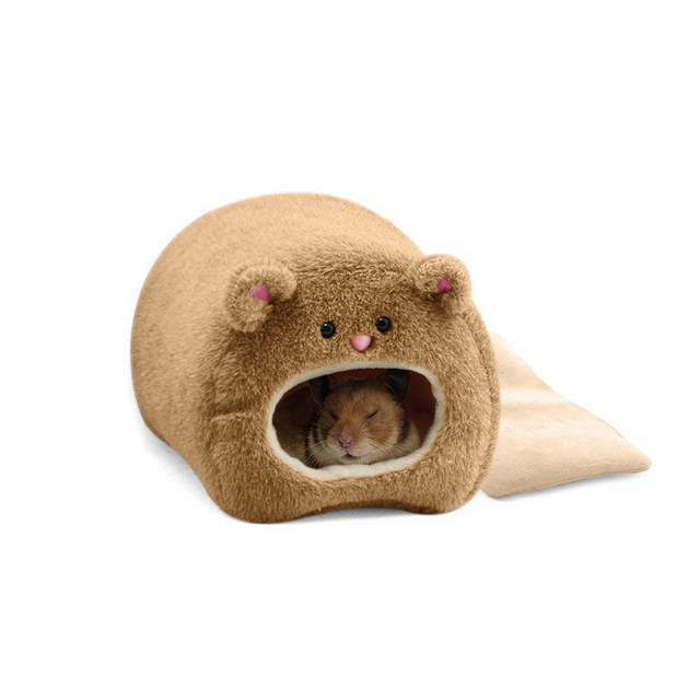 Plush Hammock for Ferret Rat Hamster Warm Hanging Bed BEAR Toy House