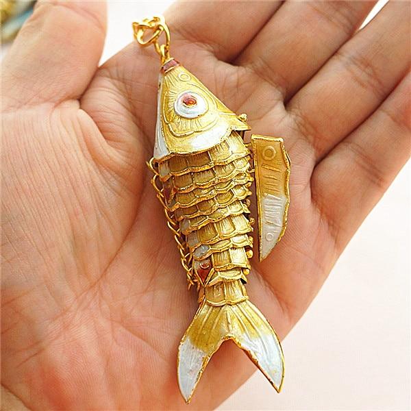 Кантри 7,5 качели кои рыбы брелки китайская перегородчатая эмаль карп аксессуары ремесла Эмаль Мода животных брелок этнический подарок - Цвет: Цвет: желтый
