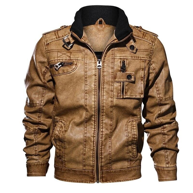 Hommes veste en cuir automne hiver hommes mode PU moto en cuir vestes manteau d'extérieur décontracté mâle 7XL 8XL Jaqueta de couro