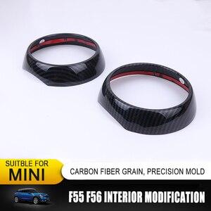 Image 5 - סיבי פחמן דפוס פנים שיפוץ גלגל הגה דקורטיבי לשקע אוויר מסגרת מדבקת סט שלם עבור מיני קופר אחד F55 F56