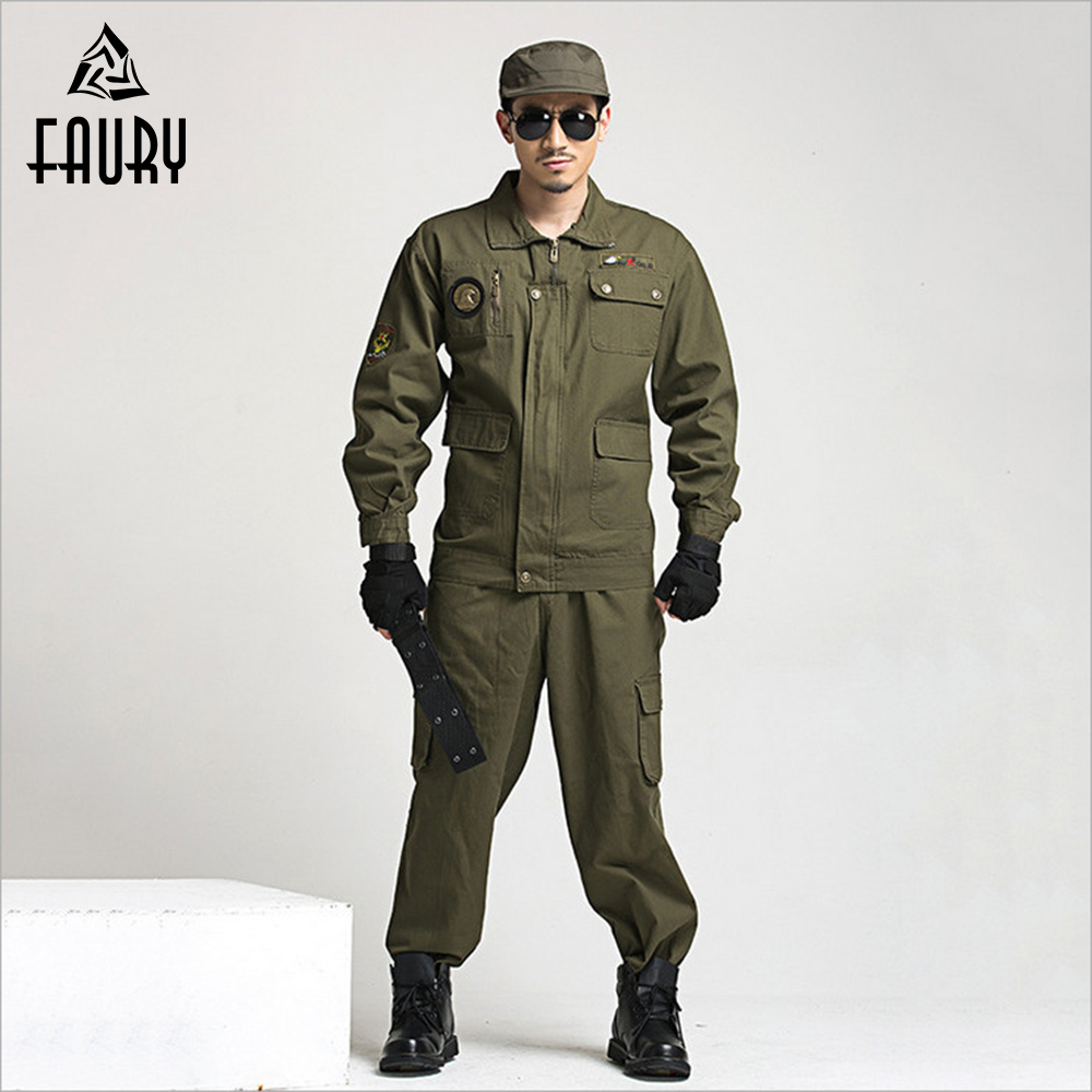2018 Wholesale Military Uniform Working Outfit Suit Army Paintball Equipment Military Combat Uniform Sets Work Wear Set ...