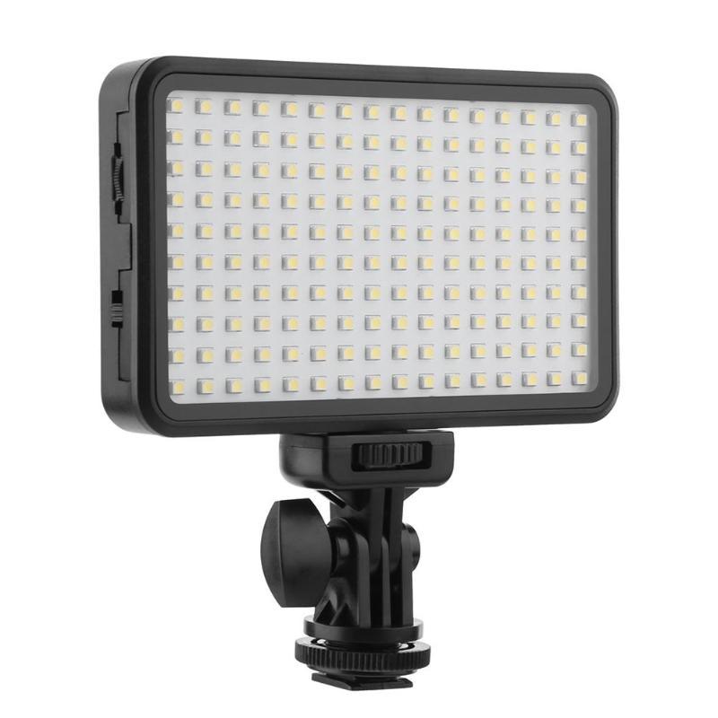 лучшая цена ALLOYSEED Highlight 160 LED 10W Studio Video Light Lamp Fill Light for Canon Nikon DSLR Camera DV Camcorder Supplement Light