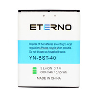 800mAh Eterno Battery For SonyEricsson BST 40 P1 Mobile Phone Battery