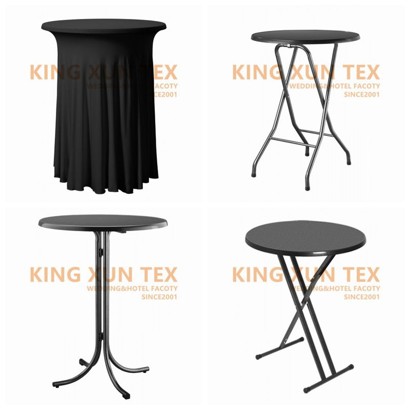 5pcs Ruffled Lycra Spandex Cocktail Table Cover Wedding Table Cloth Event Party Decoration