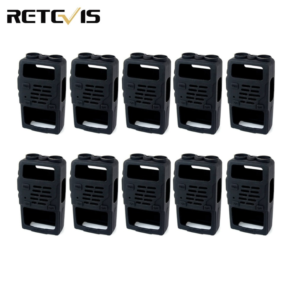 10pcs Rubber Soft Handheld Case Holster for Retevis RT5R BAOFENG UV-5R TF-UV985 TYT TH-F8 Walkie Talkie C9012A