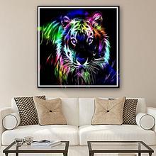 Fashion Colorful Tiger Full Square DIY Diamond Painting Cross Stitch Wall Craft Modern Decor