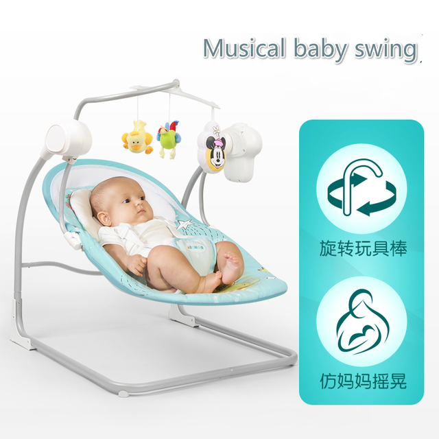 Electric Baby Rocking Chair Newborn Cradle Swing Infant Reclining