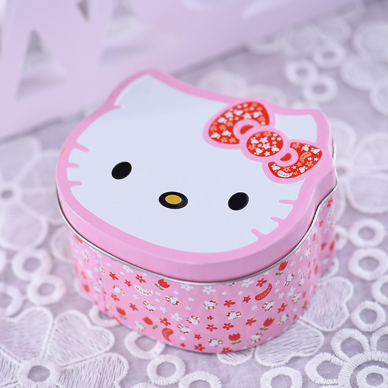 10pcs Sweet Lovely Girl Baby Shower Candy Box Metal