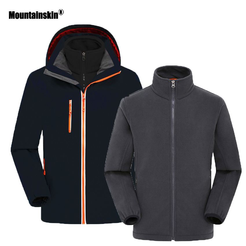 Mountainskin Women s Men s Autumn Winter Camping Hiking Outdoor Thermal Water Repellent 2 Pieces Jacket