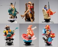 6pcs Set One Piece Luffy Solon Franky Brook New World SHF 10cm 2 Years After Japan