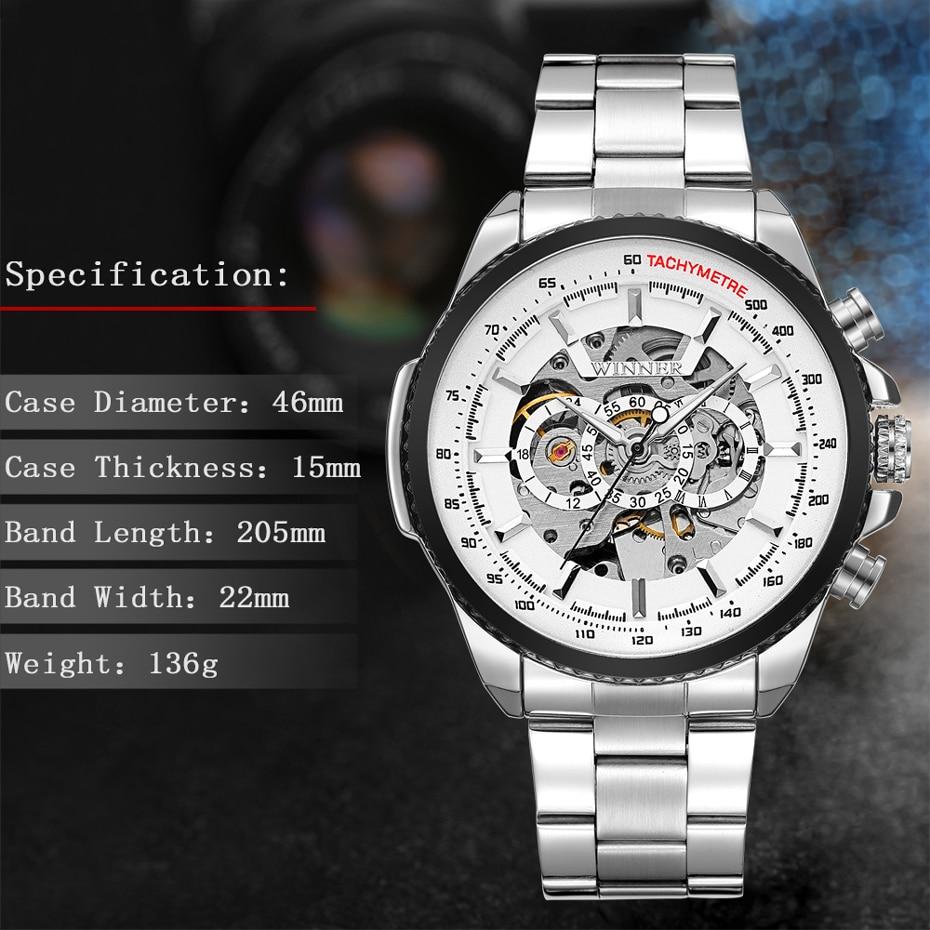 HTB1t7ElXG67gK0jSZFHq6y9jVXaH 2018 WINNER Fashion Design Black mechanical Watch Steel Automatic watch men black stainless steel band business Relogio Male-428