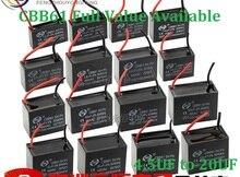 2 шт. CBB61 вентилятор конденсатора 450 В CBB61 вентилятор конденсатора 450VAC 4.5 мкФ/5 мкФ/6 мкФ/ 7 мкФ/8 мкФ/10 мкФ/12 мкФ/16 мкФ/20 мкФ Емкость