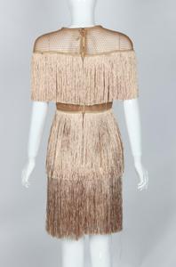 Image 3 - fringe dress vintage elegant sexy party club wear beach mesh tight streetwear sundress runway  women summer dress 2019 tassel
