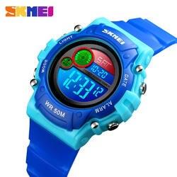 SKMEI Детские Спорт на открытом воздухе цифровые часы светодио дный Красочный Светодиодный дисплей электронные часы для мальчиков и девочек